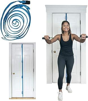 Fijación de anclaje bandbuddy puerta gimnasio multiposición para ejercicio y bandas de resistencia