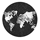 LeeVan Modern Non-Slip Backing Machine Washable Round Area Rug Living Room Bedroom Children Playroom Soft Flannel Microfiber Carpet Floor Mat Home Decor 4-Feet Diameter, Star Map