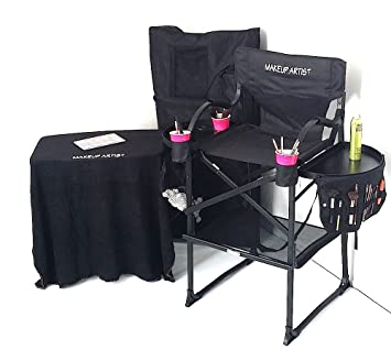 TUSCANYPRO Tall Makeup Chair COMBO SPECIAL-w/PORTABLE MAKEUP TABLE AND CARRY BAG-  sc 1 st  Amazon.com & Amazon.com : TUSCANYPRO Tall Makeup Chair COMBO SPECIAL-w/PORTABLE ...