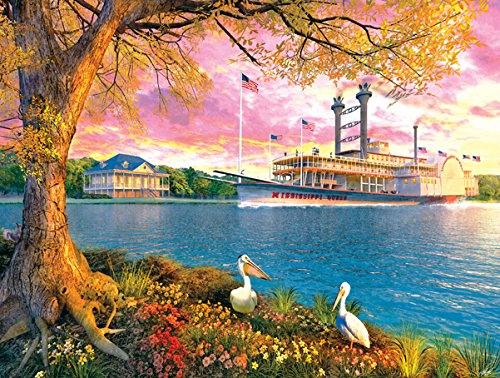 SunsOut Mississippi Queen 500 Pc Jigsaw - Mississippi Riverboat