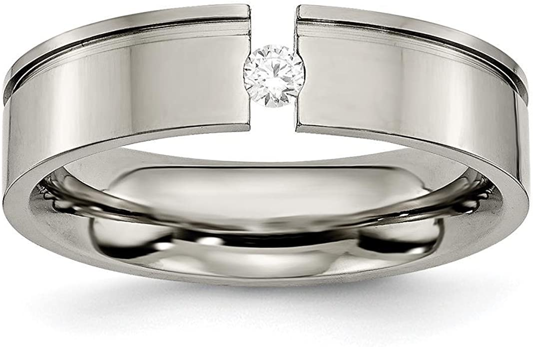 Best Quality Free Gift Box Titanium Sterling Silver Inlay 8mm Brushed And Antiqued Band