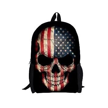 a17b6e7d922 Amazon.com   Freewander Boys Back to School Backpack Casual Schoolbag  Creative Skull Printed   Backpacks