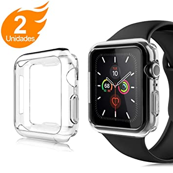 AsBellt Funda iWatch 44mm Series Series 5/4, Protector de Pantalla para iWatch Serie 5/4 44mm, Carcasa de Apple Watch Series 5/ Serie 4 (44mm), ...