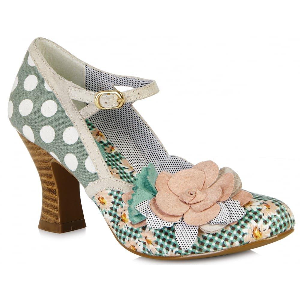 Ruby Shoo Women's Mint Peach Dee Mid Heel Mary Jane Pumps UK 3 EU 36