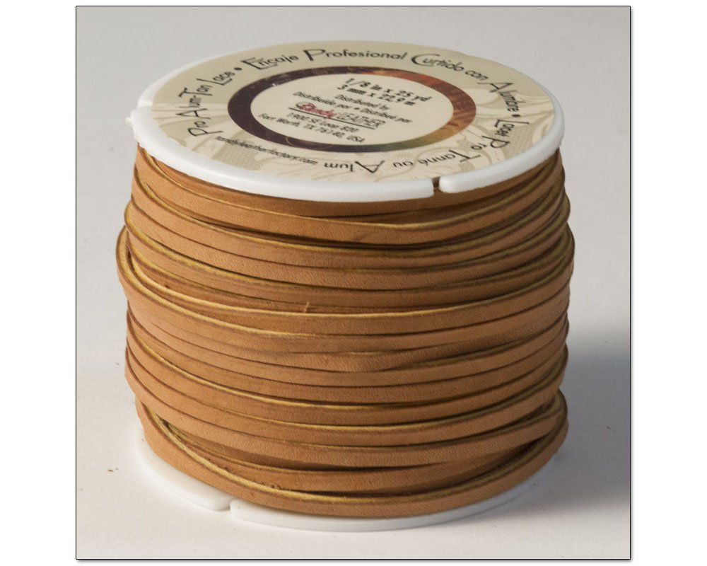 Tandy Leather Pro Alum Tanned Lace 1/8'' x 25 yds (3mm x 22.8 m) Tan 5058-01