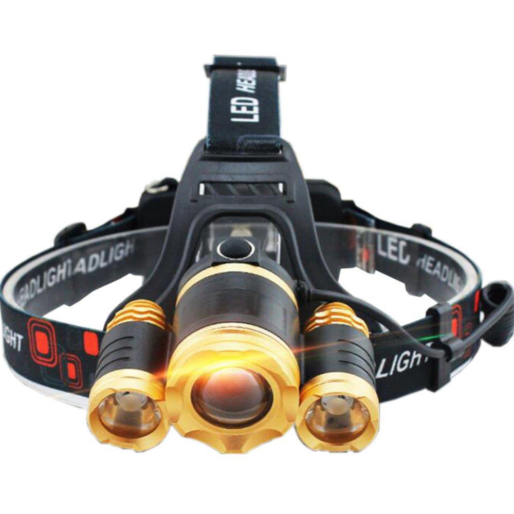 ERHANG Linternas Frontales Faro LED Hogar Exterior Lámpara De Pesca T6 Deslumbramiento Carga Auriculares