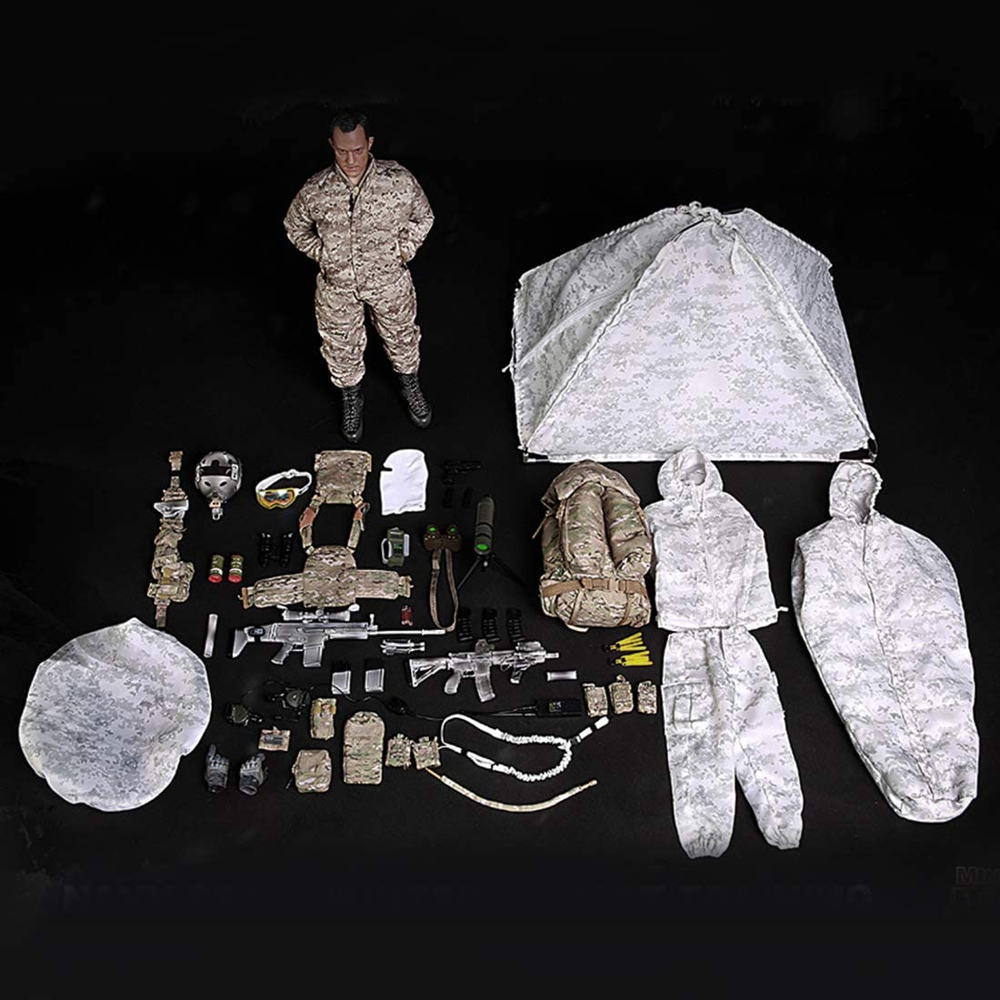 Mini Times Action Figures Satellite Telephone Navy SEAL Winter 1//6 Scale