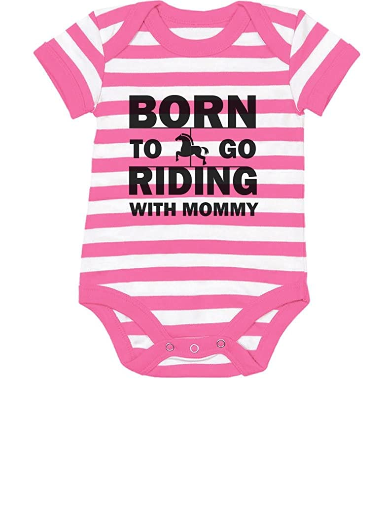 Born to Go Riding with Mommy Gift for Horse Lovers Cute Baby Onesie Tstars