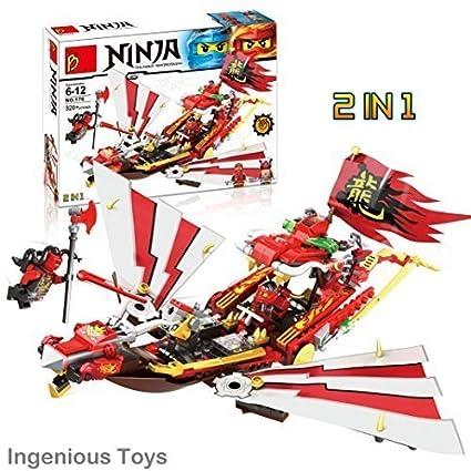 INGENIOUS Juguetes 2 en 1 - Ninja volador Barco & Avión ...