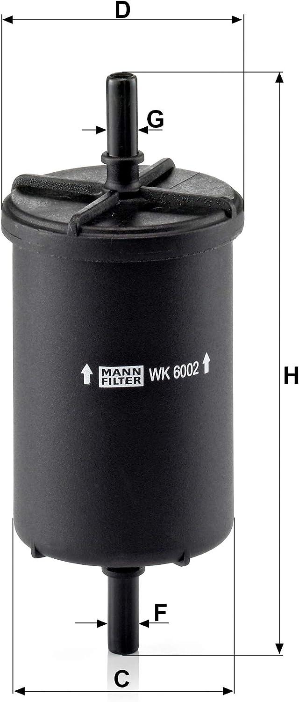 Original Mann Filter Kraftstofffilter Wk 6002 Für Pkw Auto