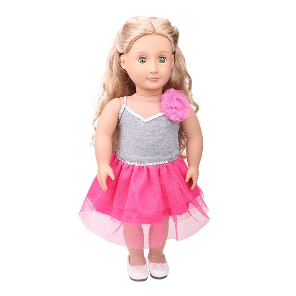 callm デイリーコスチューム 人形 衣装 ドレス 18インチ アメリカンガール 人形アクセサリー おもちゃ B07J1Q1XS5 A A