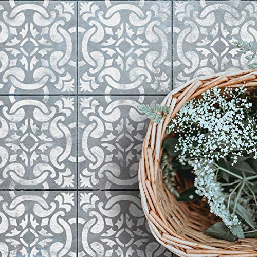 Gracia - Portuguese Tile Stencil - Spanish Tile Stencil ()