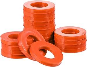 20 Pack 3/4 inch Garden Hose Washers Rubber Washers Seals for Standard Garden Hose and Shower Hose O Ring (Orange)