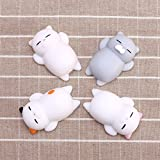 Image of Stress Relief Toy Squishy Slow Rising Toys Mini Cute Kitty Buns 4Pcs
