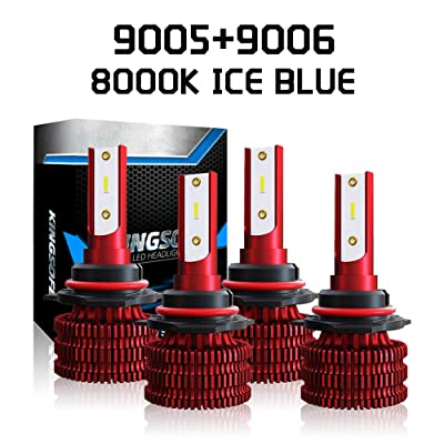 A-Partrix K5 9005 + 9006 LED Headlight Bulb Ice Blue 8000K 36W 8000 Lumens Xenon White Extremely Bright All-in-One Conversion Kit-2 Packs: Automotive