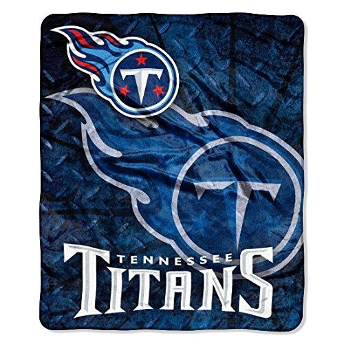 NFL Tennessee Titans Raschel Plush Throw Blanket, Roll Out Design
