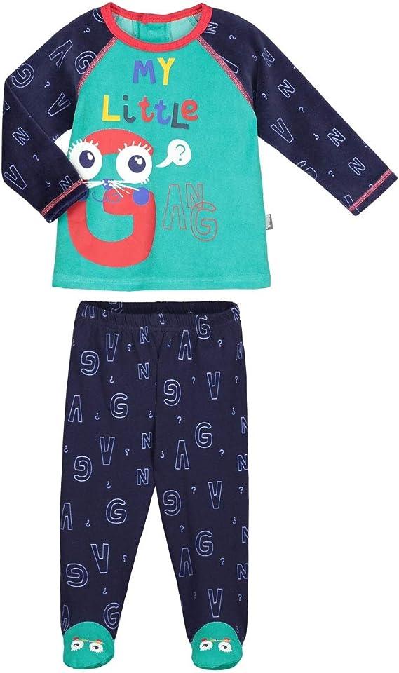 Pyjama bébé 2 pièces avec pieds Gang Taille 12 mois (80