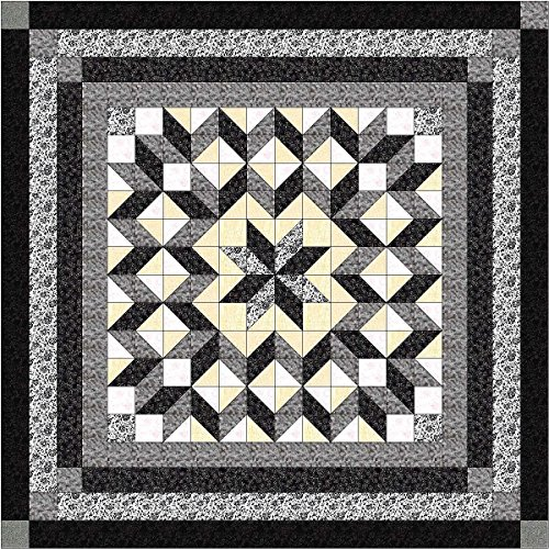 Easy Quilt Galaxy Star Black and White Nuetrals/QN?Exped Ship by Material Maven