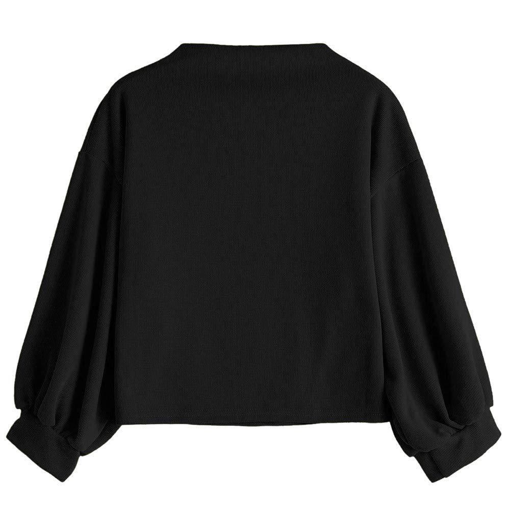 Homebaby Felpe Tumblr Donna Sportiva Crop Top Autunno,Ragazza Casual Sweatshirt Pullover Elegante Manica Lunga Maglietta Cotone Camicette T-Shirt Yoga Fitness Calcio Maglione