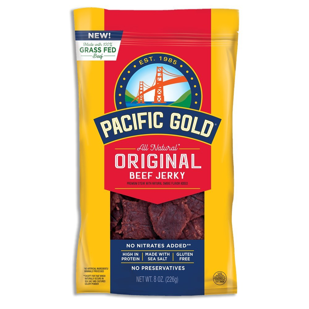Pacific Gold Original Beef Jerky, 2-8oz bags