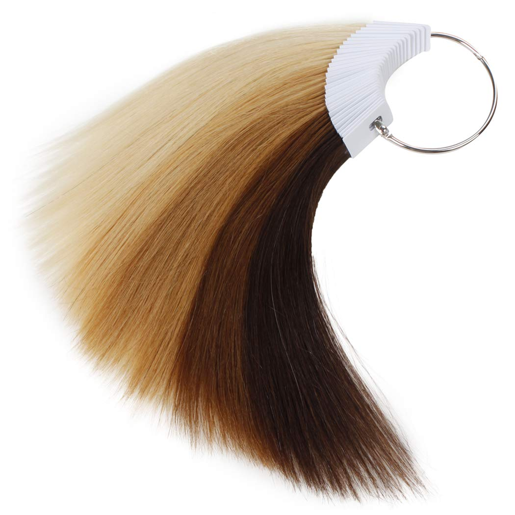 Rinboool Hair Swatches For Testing Hair Color,6 Levels in 1 Pack,Sample  Kit,100% Remy Human Hair,8\'\' 30 Pieces Per Pack