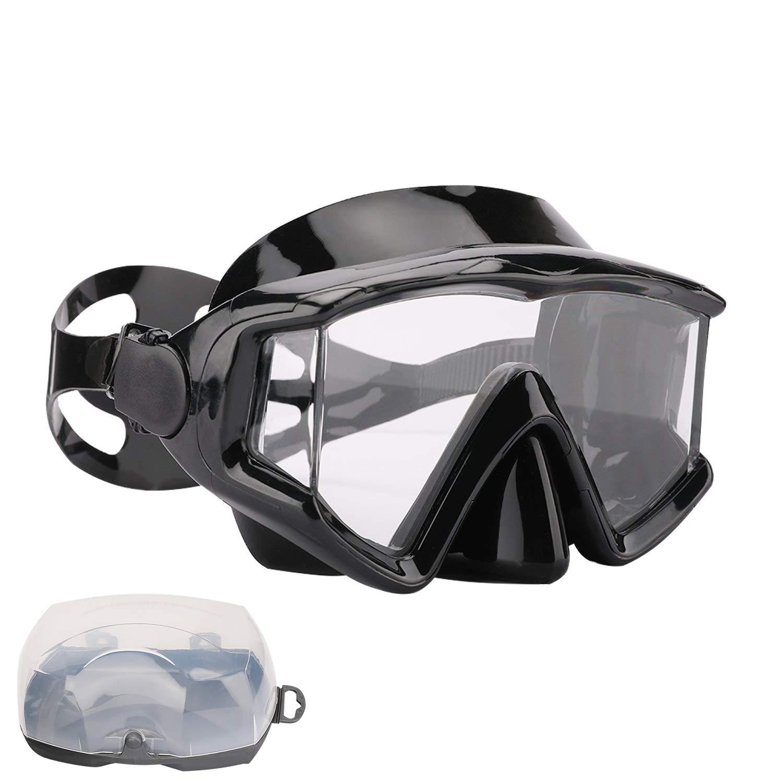 AQUA A DIVE SPORTS Scuba Snorkeling Dive Mask for Scuba Diving Snorkeling Free Diving (PC Lens Black) by AQUA A DIVE SPORTS