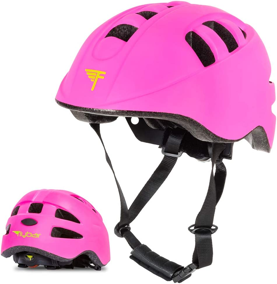 Flybar Youth Child Multi-Sport Helmets for Kids with Adjustable Dial – Dual Safety Certified CPSC EN1078 for Skateboarding, Biking, BMX – S, M, L Multiple Colors Available