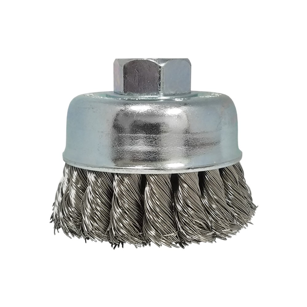 Zenith Industries ZN306016 Stainless Steel Twist Knot Cup Brush, 2-3/4' x .020' x 5/8-11' 2-3/4 x .020 x 5/8-11