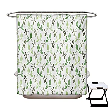 Amazon.com: BlountDecor Leaf Shower Curtains 3D Digital ...
