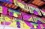 Mexican Papel Picado, Cinco de Mayo Party Decorations, Papel Picado Banners, 78 ft Long, Multicolored tissue PAPER garland, Mexican Decorations, Weddings, Quinceaneras, Birthdays.