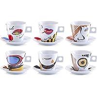 Zeller Faces - Juego de Tazas de café