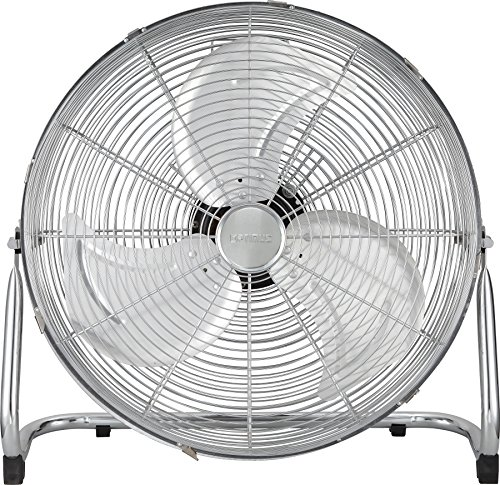 Optimus Industrial Grade 3-Speed High-Velocity Fan, 18 Inches, Chrome, -