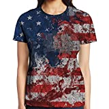 BEAUTYSWIMMING Travel & World USA Flag Woman Unisex Adults Fashion T-Shirt 3D Printed Tee Top Gifts Medium