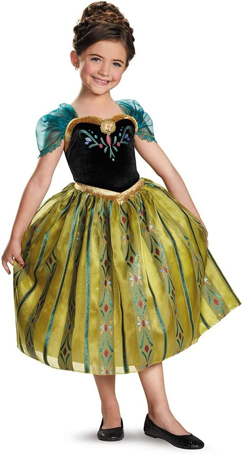 Disney Store Frozen Anna Coronation Fancy Dress Costume All Ages NEW **LOOK**
