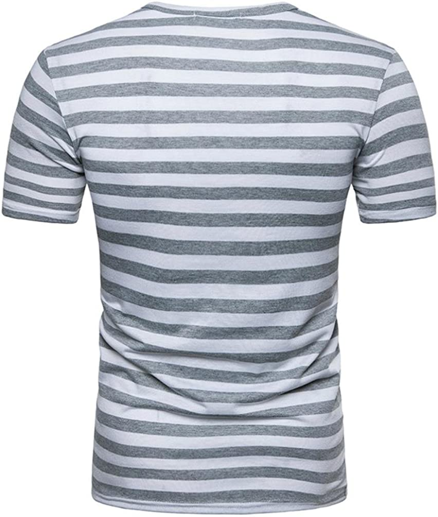 Solid Colored//Striped IYFBXl Mens Active//Basic Shirt