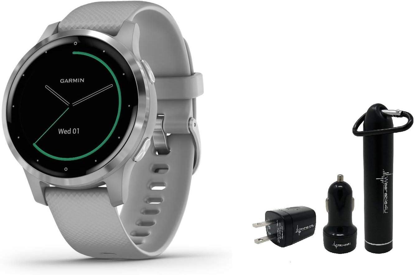 Garmin Vivoactive 4 GPS Smartwatch and Wearable4U Power Pack Bundle (Black/Slate)