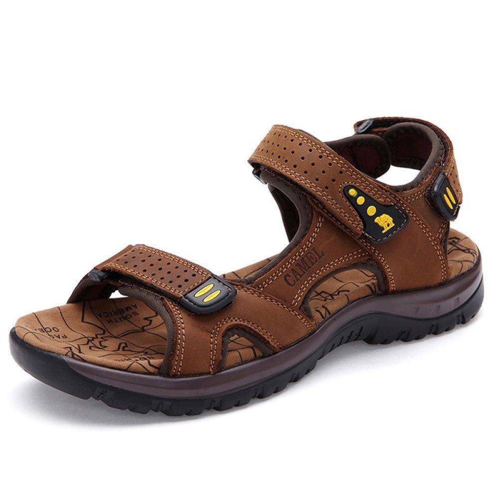 Sandalias para Hombres Casual De Verano Transpirable con Velcro De Hombre De Playa 42 EU|Brown