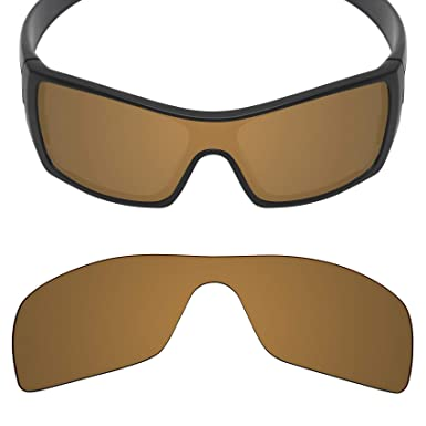 18ee6dcacf1 MRY Anti-Scratch POLARIZED Replacement Lenses for Oakley Batwolf Sunglass -  Opt (Bronze Gold
