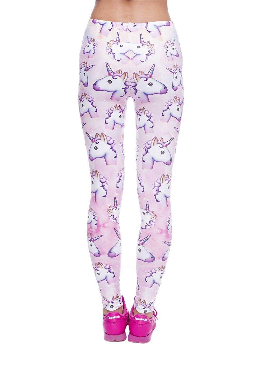 Smallbox Femmes Leggings Pink 3D imprim/é Belle Mode Licorne Leggings pour Gym Sport Yoga