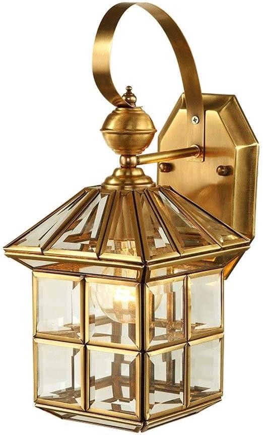 ZWJ-壁面ライト 壁ランプオール銅シンプルな屋内バルコニー屋外20X40cm