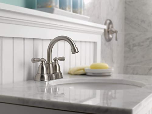 Moen CA84913SRN Double Handle Centerset Bathroom Faucet from the Banbury Collection, Spot Resist Brushed Nickel