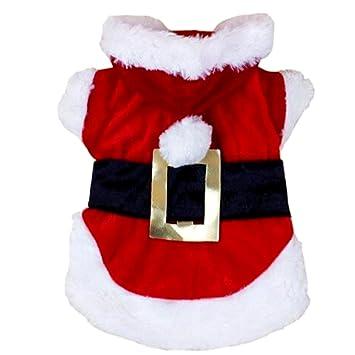 Aipark Sudadera con capucha para perro, cachorro, gato, disfraz de Papá Noel, regalo de Navidad: Amazon.es: Productos para mascotas