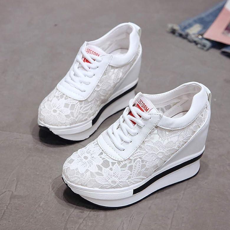 JXILY Zapatos Tejidos Voladores Zapatillas Altas con Hilo de Red Zapatos Solteros Running Zapatos Transpirables Mujer Deporte Casuales Zapatos,Blanco,36: Amazon.es: Zapatos y complementos