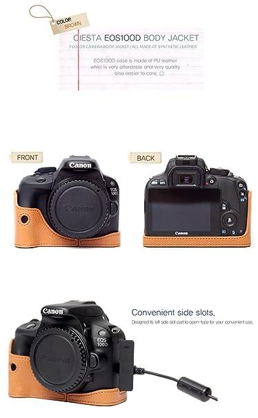 Chaqueta de la mitad funda de piel Ciesta para Canon 100d EOS ...