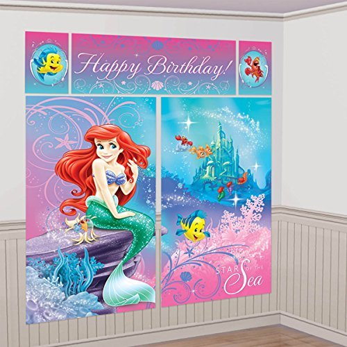 (Disney Little Mermaid Ariel Scene Setters Wall Banner Decorating Kit Birthday Party Supplies)