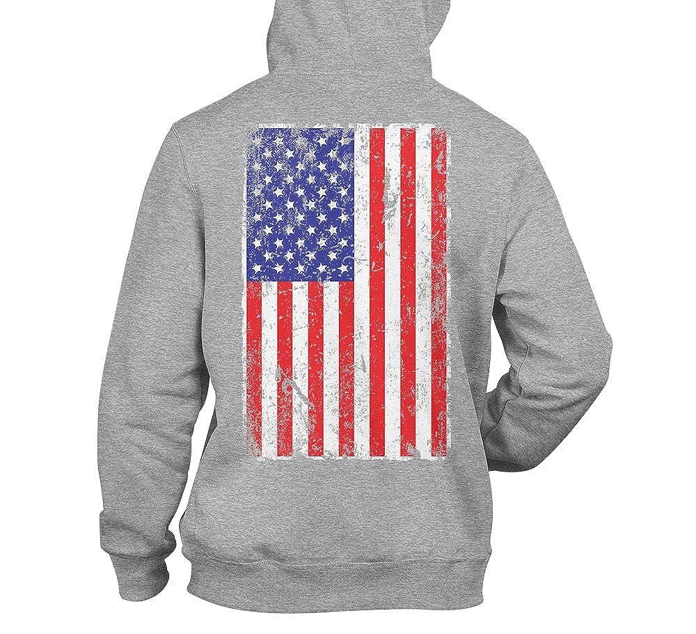 United States of America Unisex Hoodie Sweatshirt Distressed USA Flag
