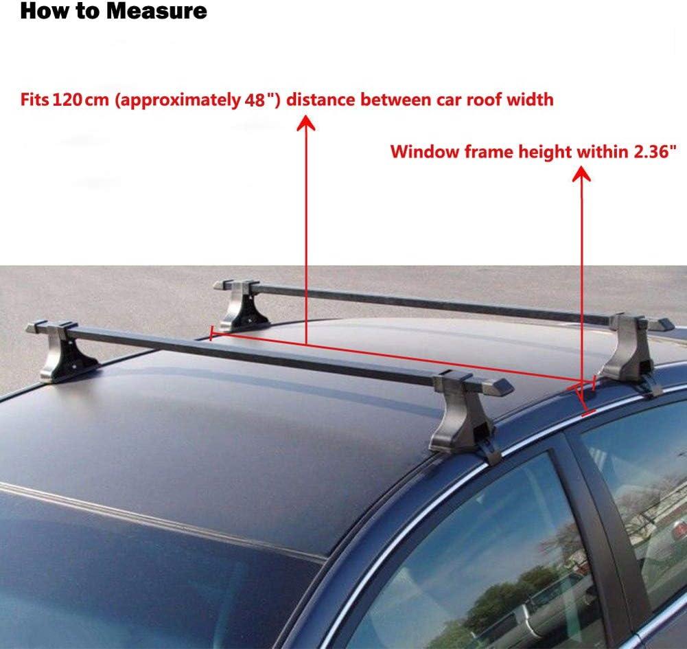 Volkswagen Passat Universal Aluminium Anti-Theft Roof Bars 120cm