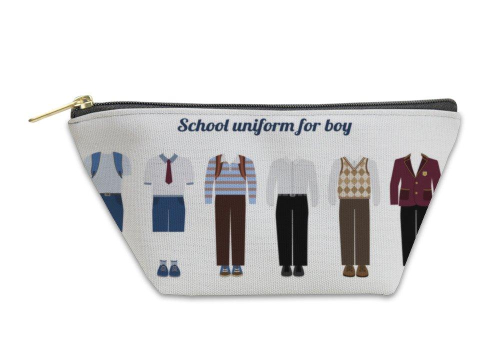 Gear New Accessory Zipper Pouch, School Uniform For Boys Flat Illustration, Small, 6037555GN