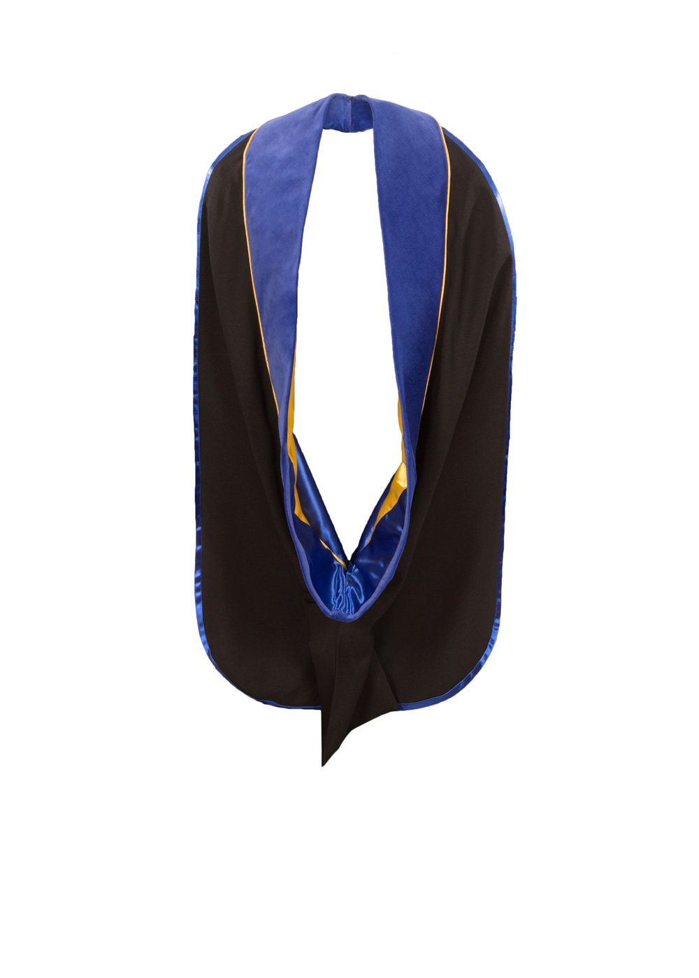 American Doctoral Hood (Royal Blue with Gold piping)