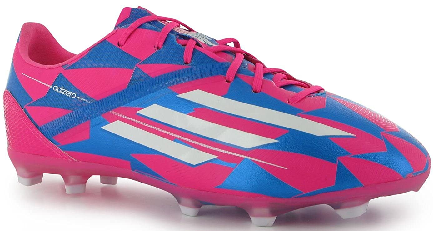 buy popular d69be bcac9 Amazon.com   Adidas F50 Adizero Junior Lionel Messi Soccer Cleat (Pink,  Blue) Sz. 5   Soccer